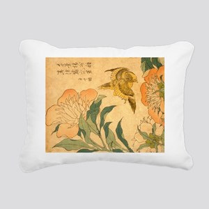 Peony and Canary by Hoku Rectangular Canvas Pillow