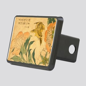 Peony and Canary by Hokusa Rectangular Hitch Cover