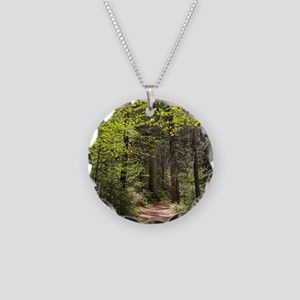 Forest Trail Necklace Circle Charm