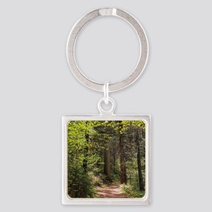 Forest Trail Square Keychain