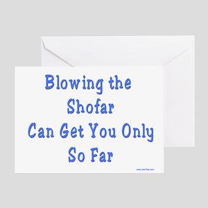 Blowing the Shofar Greeting Card