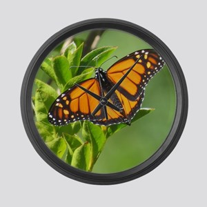 Monarch Butterfly Large Wall Clock