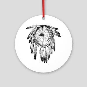 Dream Catcher Round Ornament