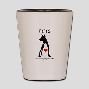 Pets-People Suck Shot Glass