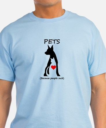 Pets-People Suck T-Shirt