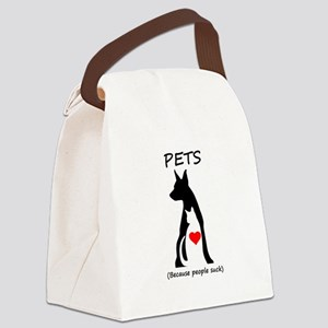 Pets-People Suck Canvas Lunch Bag