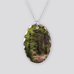 Forest Trail Necklace Oval Charm