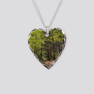 Forest Trail Necklace Heart Charm