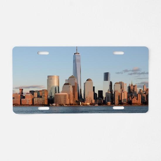 New York City Skyline Aluminum License Plate