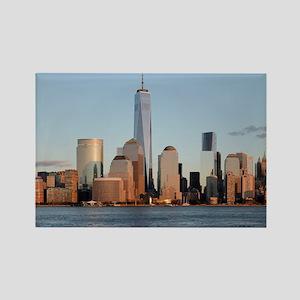 New York City Skyline Rectangle Magnet