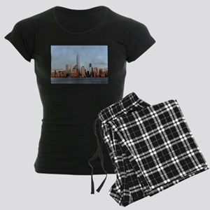 Lower Manhattan Skyline, New Women's Dark Pajamas