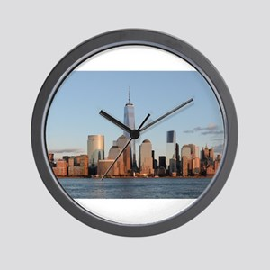 Lower Manhattan Skyline, New York City Wall Clock