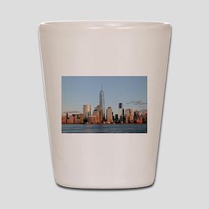 Lower Manhattan Skyline, New York City Shot Glass