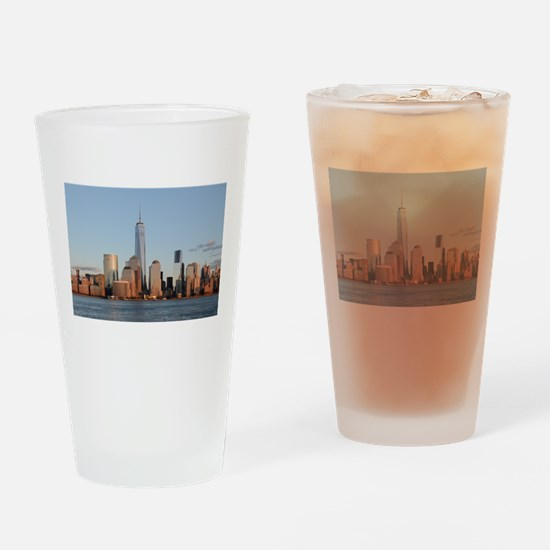 Lower Manhattan Skyline, New York C Drinking Glass