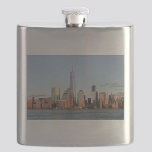 Lower Manhattan Skyline, New York City Flask