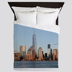 Lower Manhattan Skyline, New York City Queen Duvet