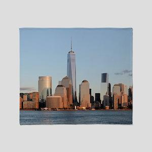 Lower Manhattan Skyline, New York Ci Throw Blanket