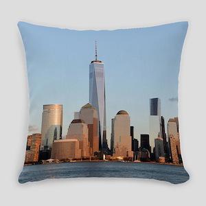Lower Manhattan Skyline, New York Everyday Pillow