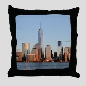 Lower Manhattan Skyline, New York Cit Throw Pillow