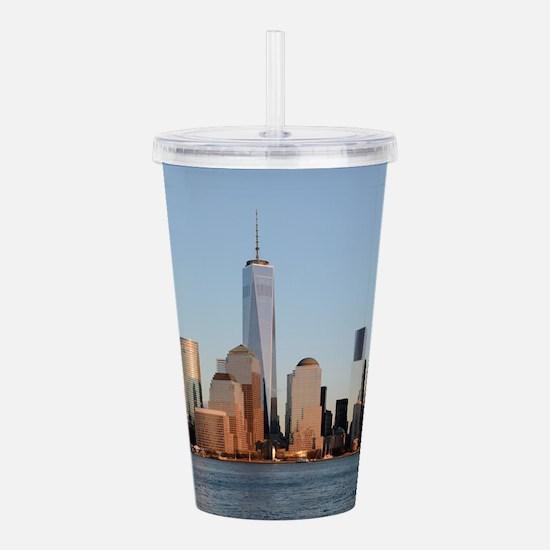 Lower Manhattan Skylin Acrylic Double-wall Tumbler