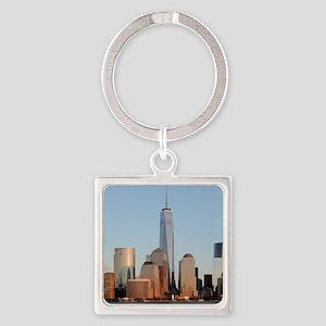 Lower Manhattan Skyline, New York City Keychains
