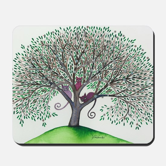 Morovis Stray Cats in Tree Mousepad