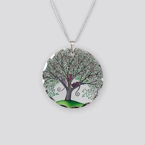 Morovis Stray Cats in Tree Necklace Circle Charm