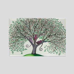 Morovis Stray Cats in Tree Rectangle Magnet
