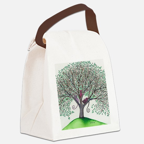 Morovis Stray Cats in Tree Canvas Lunch Bag