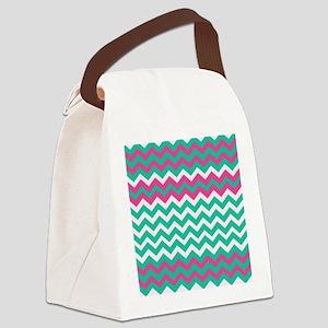 Miami Beach Zigzags Canvas Lunch Bag