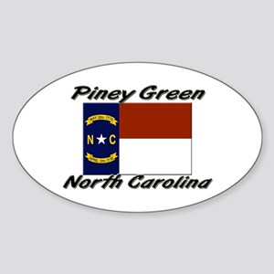 Piney Green North Carolina Oval Sticker