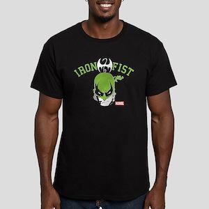 Iron Fist Head Men's Fitted T-Shirt (dark)