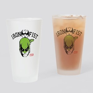 Iron Fist Head Drinking Glass