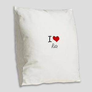 I love Rats Artistic Design Burlap Throw Pillow