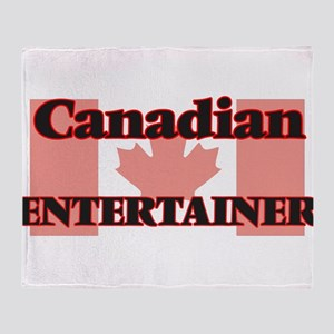 Canadian Entertainer Throw Blanket