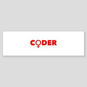 Female Coder (Pink) Bumper Sticker