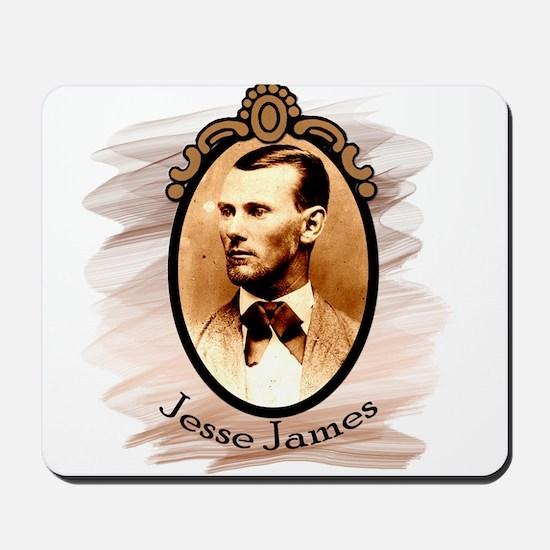 Jesse James Portrait Mousepad