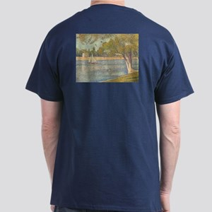 Seine at Grande Jatte by Seurat Dark T-Shirt