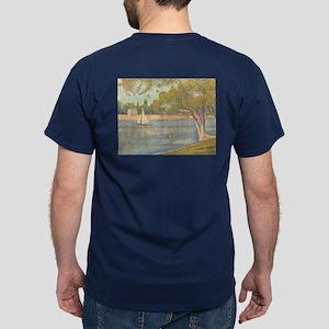 Seine at Grande Jatte by Seurat Dark T-Shirt