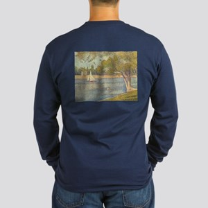 Seine at Grande Jatte by Long Sleeve Dark T-Shirt