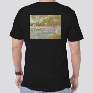 Seine at Grande Jatte Men's Fitted T-Shirt (dark)