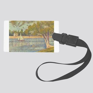 Seine at Grande Jatte by Seurat Large Luggage Tag