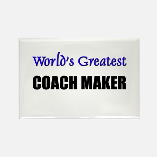 Worlds Greatest COACH MAKER Rectangle Magnet (10 p
