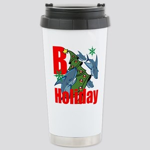B Holiday Travel Mug