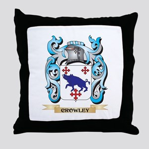 Crowley Coat of Arms - Family Crest Throw Pillow