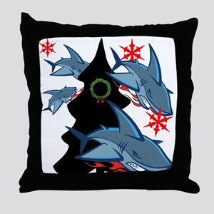 Shark Attack Throw Pillow