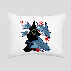 Shark Attack Rectangular Canvas Pillow