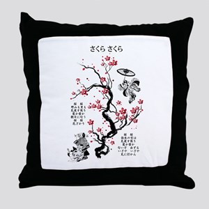 Sakura Sakura Throw Pillow