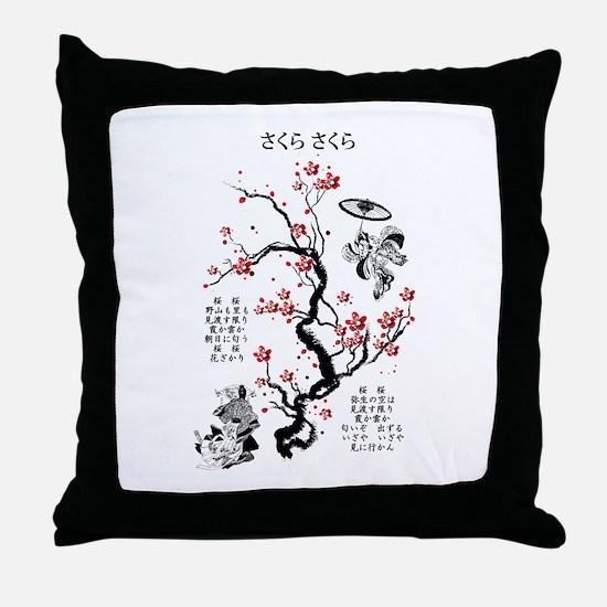 Sakura Sakura Throw Pillow