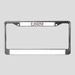 hillary clinton bokeh License Plate Frame
